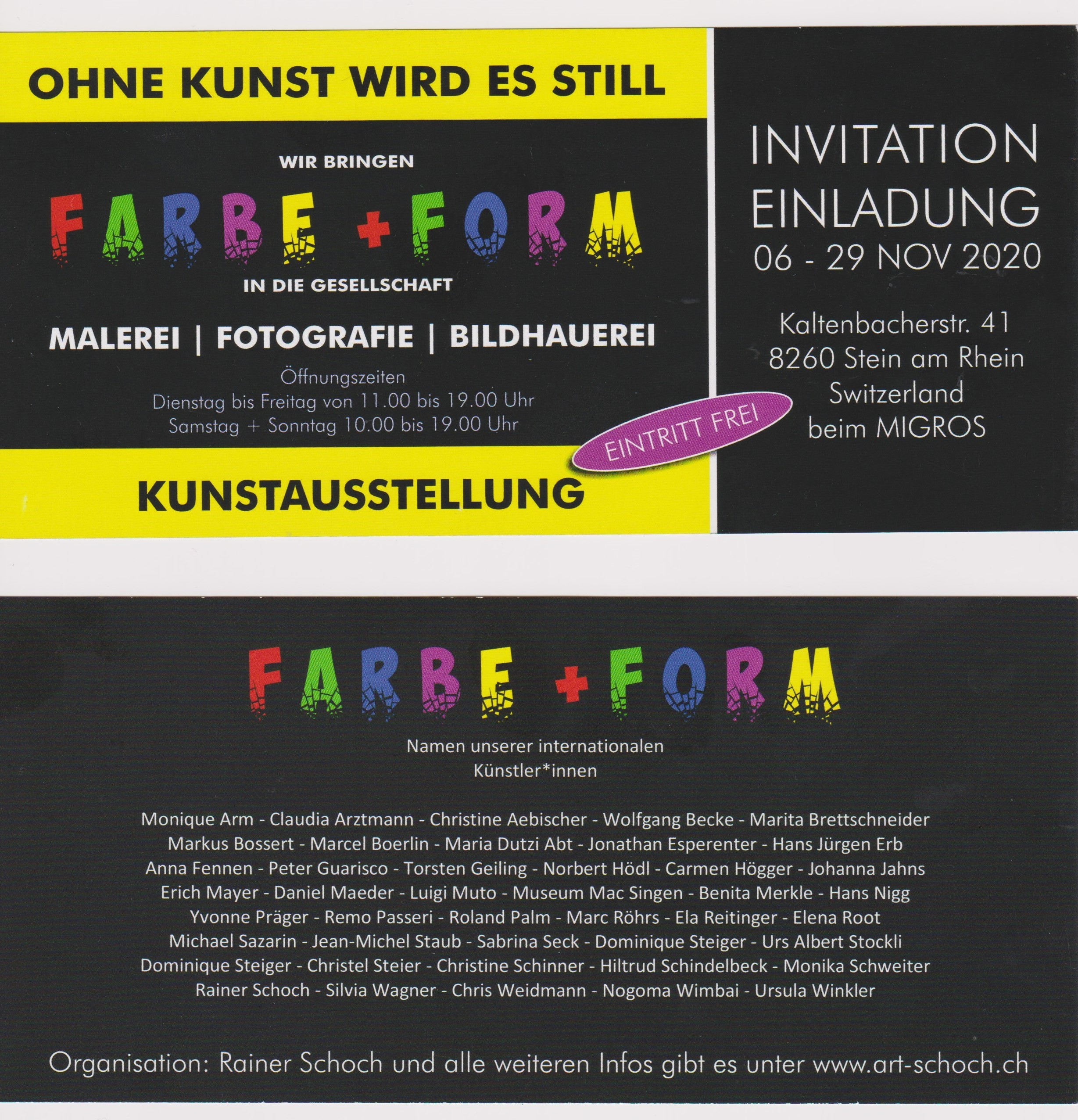 Einladungskarte FARBE UND FORM_1
