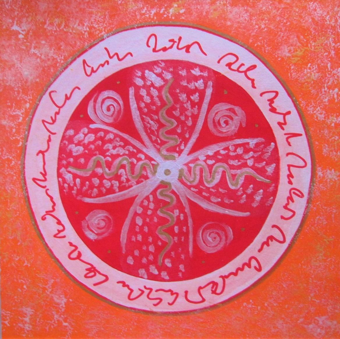 Seelenbild orange rot